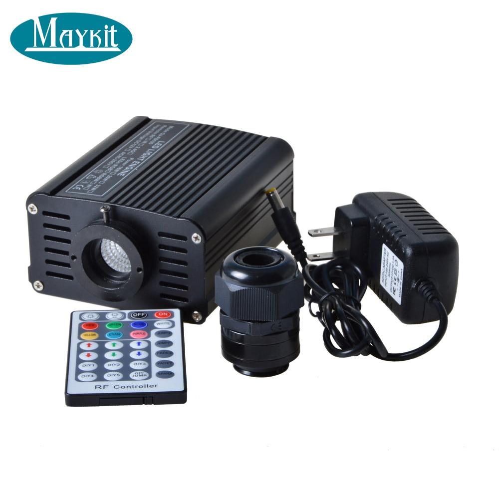 Maykit Music Controll RGBW 16W LED Fiber Optic Light Engine For Indoor Lighting Decoration