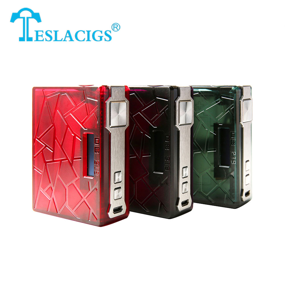 219W Tesla DB 219 TC Box MOD Teslacig Mod Made of Advanced PEI Material with High Performance VW/TC/TCR Modes E-cig Vape Box Mod недорго, оригинальная цена