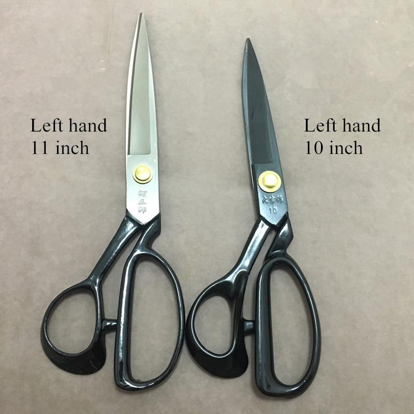 1Pcs 10/11 Inch Steel Left Hand Tailor Shear Scissor Household Fabrics Cutting Tools DIY Sewing Scissors Sharp Textile Cutter