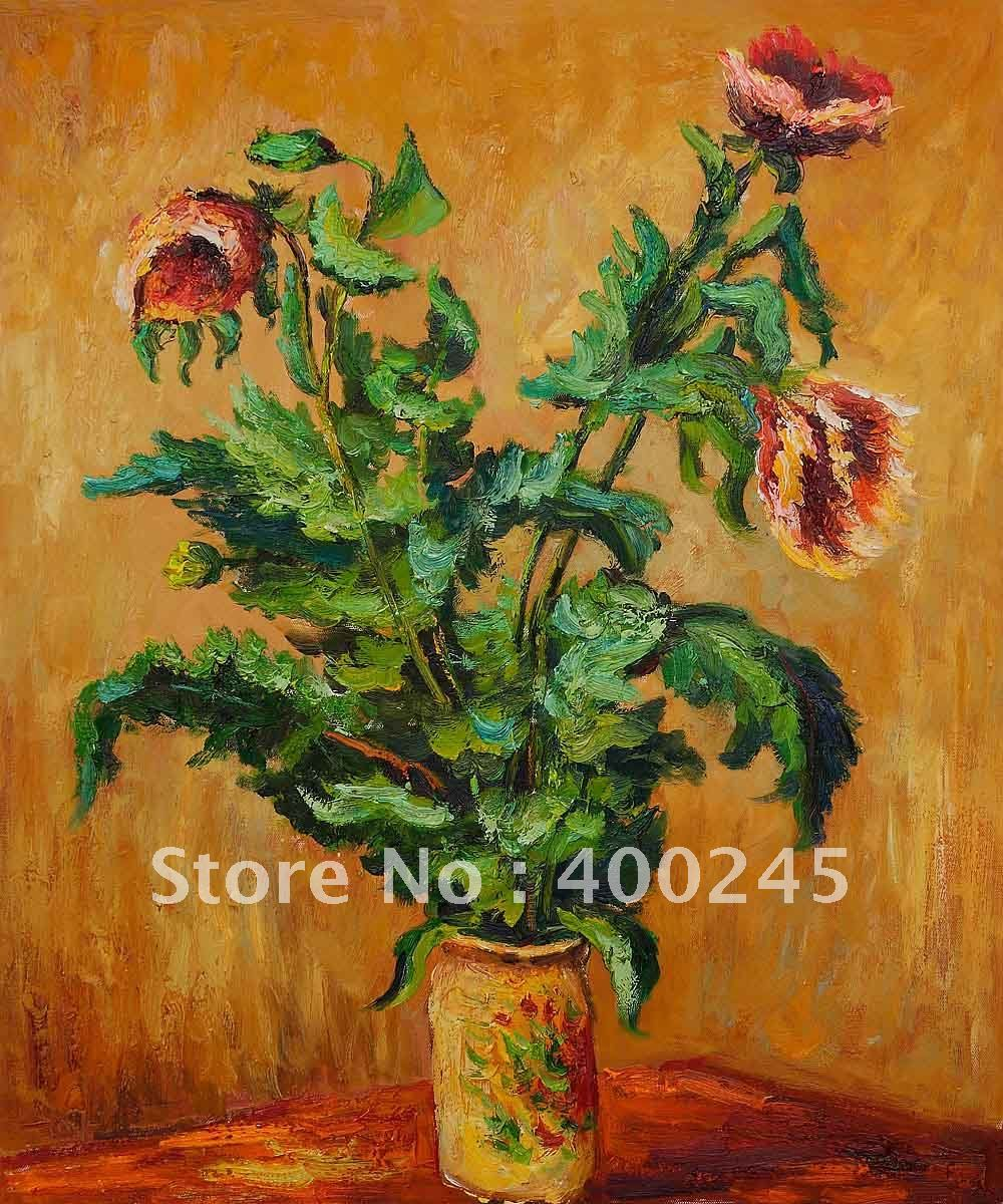 Flower oil painting modern art purple poppies by claud monet oil flower oil painting modern art purple poppies by claud monet oil painting reproduction high quality 100handmade free shipping in painting calligraphy mightylinksfo