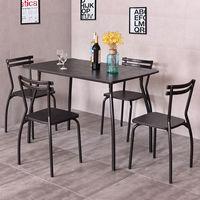 Giantex 5 шт. набор столовой стол и 4 стула Современный дом Кухня комнаты завтрак Мебель дерева, обеденный стол hw54170