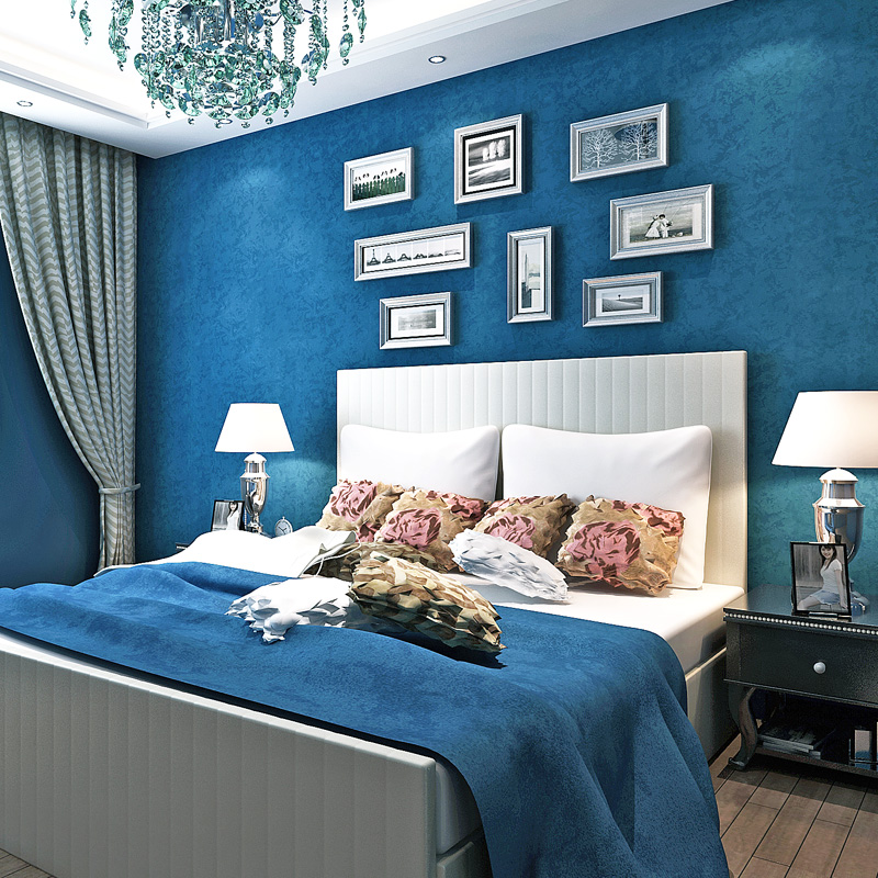 Bedroom Wallpaper Ideas Creative Bedroom Blue Wall Designs Dallas Cowboys Bedroom Paint Ideas Bedroom Interior Design Ideas India: Bacaz All Blue Wallpaper Solid Color Wallpaper Rolls For