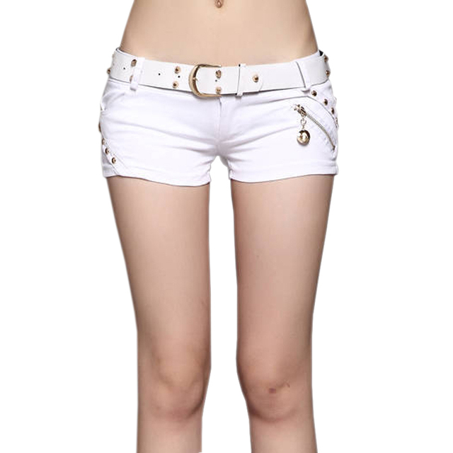 White Shorts Fashion Brand Women Shorts Low Waist Sexy Shorts Female Summer  Shorts Thin Slim Night ca0666bc5