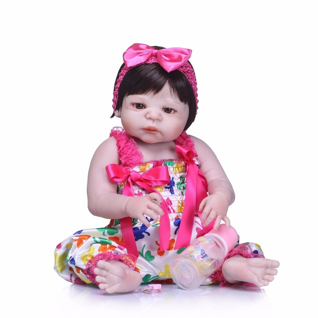 Silicone Reborn Baby Dolls Lovely Doll For Baby Gift 5