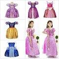 2015 новый фильм дети ярмарка сказка девушки эльза анна платье дети косплей костюм Vestidos золушка принцесса ну вечеринку выступления одеваться
