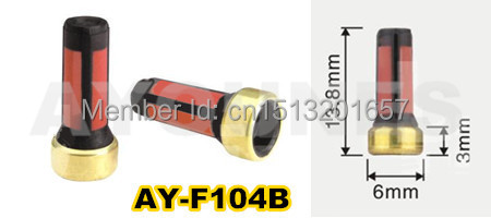 50 pieces high quality red skim strainer micro basket fuel injector filter for AUDI CARS (AY-F1010,AY-F104B)