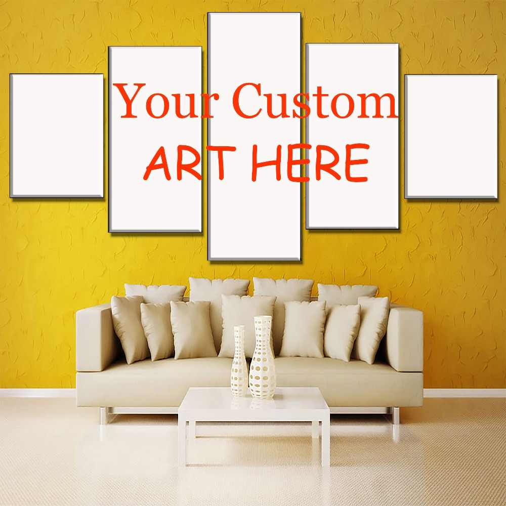 Custom Made Picture On Canvas Print Type Style Artworks Modern Home Decor Wall Painting Framework Or Frameless Drop Shopping