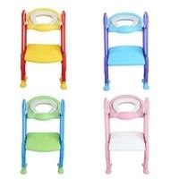 Practical Baby Toilet Seat Folding Children Potty Chair Step Trainer with Adjustable Ladder Anti splash Child Potty Seat Toilet