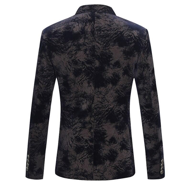 2018 новый стиль, утолщенные пальто с камуфляжным принтом, мужские модные блейзеры, мужская куртка, Мужской однобортный повседневный деловой ... - 2