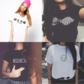Super Deal Arctic Monkeys Kilin It Smiley Fuck Off Sister Lettered Print Women T-shirt Vogue Black White Sale In Discount Tee