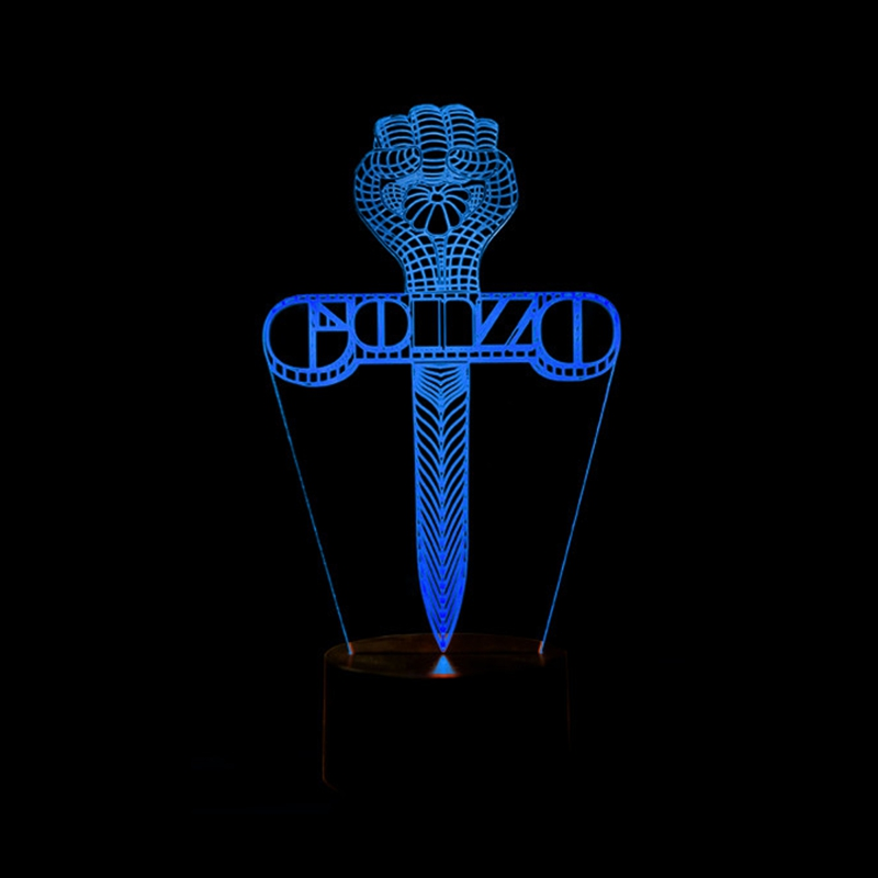 Creative Gaming 3D Cross Night Light Led Sword Table Lamp 7 Colors Changing Bedside Sleep Usb Lighting For Child Birthday Gifts