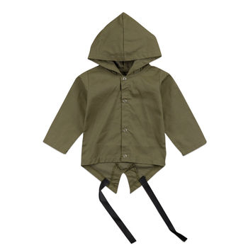 Autumn Winter New Fashion Baby Clothes 0-24M Stylish Toddler Kids Baby Clothing Boy Hooded Outwear Windbreaker Coats одежда на маленьких мальчиков