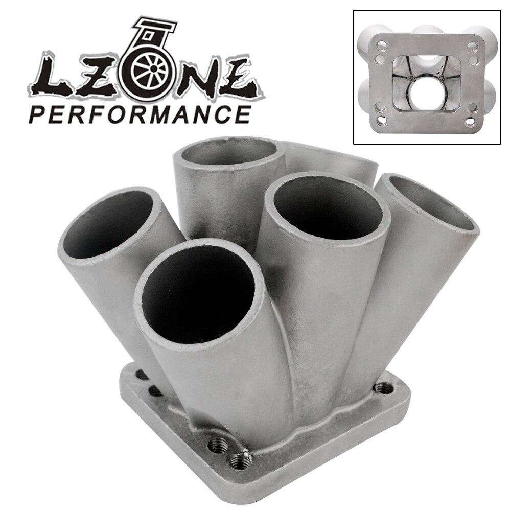все цены на LZONE - Cast Stainless Steel 6-1 Turbo header manifold Merge collector T3 T4 with T3 Flange JR-THM01-6 онлайн