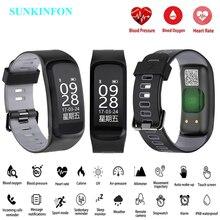 100% Original No.1 F4 Smart Bracelet IP68 Blood Pressure Blood Oxygen Heart Rate Monitor Smart band For IOS Android SmartPhones