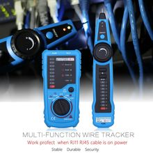 High Quality Wire Tracker RJ11 RJ45 Cable Tester Telephone Wire Ethernet Detector Line Finder LAN Network Cable Network Tester fwt01 multi functional handheld network cable tester lan ethernet wire tracker finder meter telephone line tester
