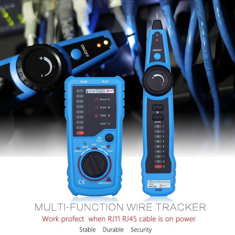 Network Cable Network Tester Portable High Quality Tracking Wire RJ11 RJ45 Cable Tester Telephone Wire Ethernet Detector Line