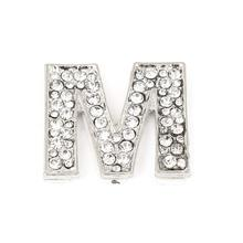 uxcell Rhinestones Detail Silver Tone Letter M Shaped Car Automobile  Sticker Decoration(China) 19761b0ccfc0