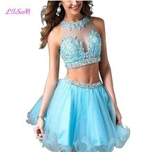 Sky Blue Mini Graduation Dresses Plus Size Organza Short Prom Gowns Appliques Beaded juniors Homecoming Dress spodnica tiulowa champagne new arrival juniors graduation dress glitz mermaid pageant dresses for juniors girls prom gowns for special occasion