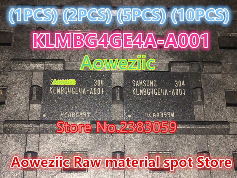 Aoweziic  (1PCS) (2PCS) (5PCS) (10PCS) 100% New original   KLMBG4GE4A-A001 BGA    memory chip KLMBG4GE4A A001 1pcs 2pcs 5pcs 10pcs 100% new original kmr310001m b611 bga memory chip