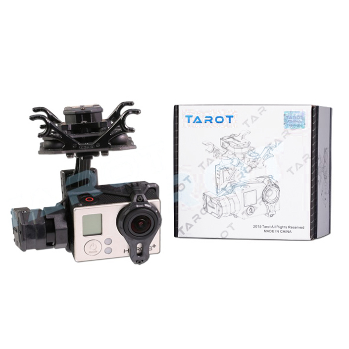 Tarot T4-3D Dual Shock-Absorber Gimbal For Gopro Hero4/3+/3 Double Shock Absorber Gimbal TL3D02 upgrade debugging edition jiyi fpv g3 3d 3 axis gimbal for gopro hero3 3 hero4 aerial photography