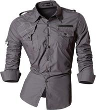 Jeansian Mens Fashion Dress Casual Shirts Button Down Long Sleeve Slim Fit Designer 8371 Gray