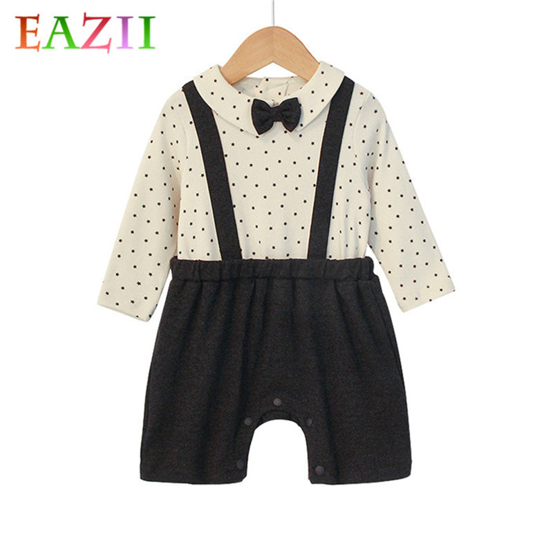 e4b87a56f EAZII New Baby Playsuit Newborn Toddler Infant Baby Boys Romper Long Sleeve  Jumpsuit Playsuit Little Boy Outfits Fashion Clothes