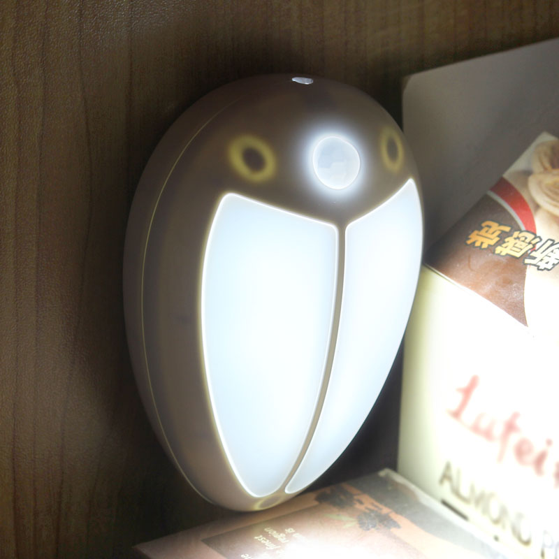 draadloze infrarood mini muis nachtlampje montion sensor kast