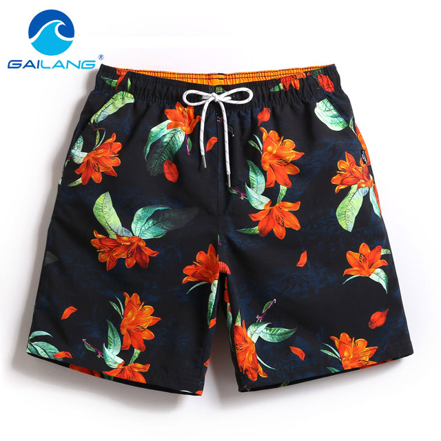 Gailang Brand Sexy Men Beach Shorts Board Boxer Trunks Casual Quick Drying Male Swimwear Swimsuits Men's Bermuda Active