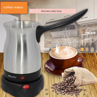 220V Electric Coffee Pot coffee maker Heating Boiled Tea Hot Milk Jug Stainless Steel Separated Italian Mocha