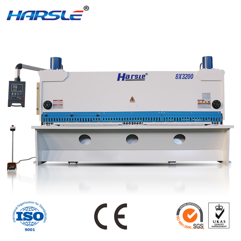 hydraulic guillotine sheet metal shearing machine with E21S control system