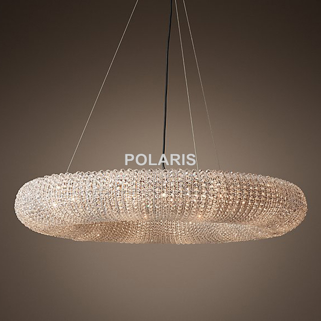 Factory Outlet Luxury Vintage Rh Crystal Chandelier Halo Pendant Hanging Light Chandeliers Lamp For Home Hotel