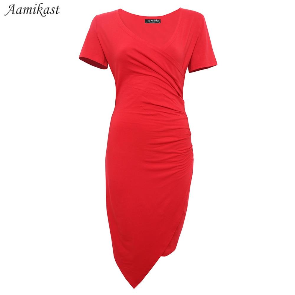 V-образным вырезом с коротким рукавом - Женская одежда - Фотография 3