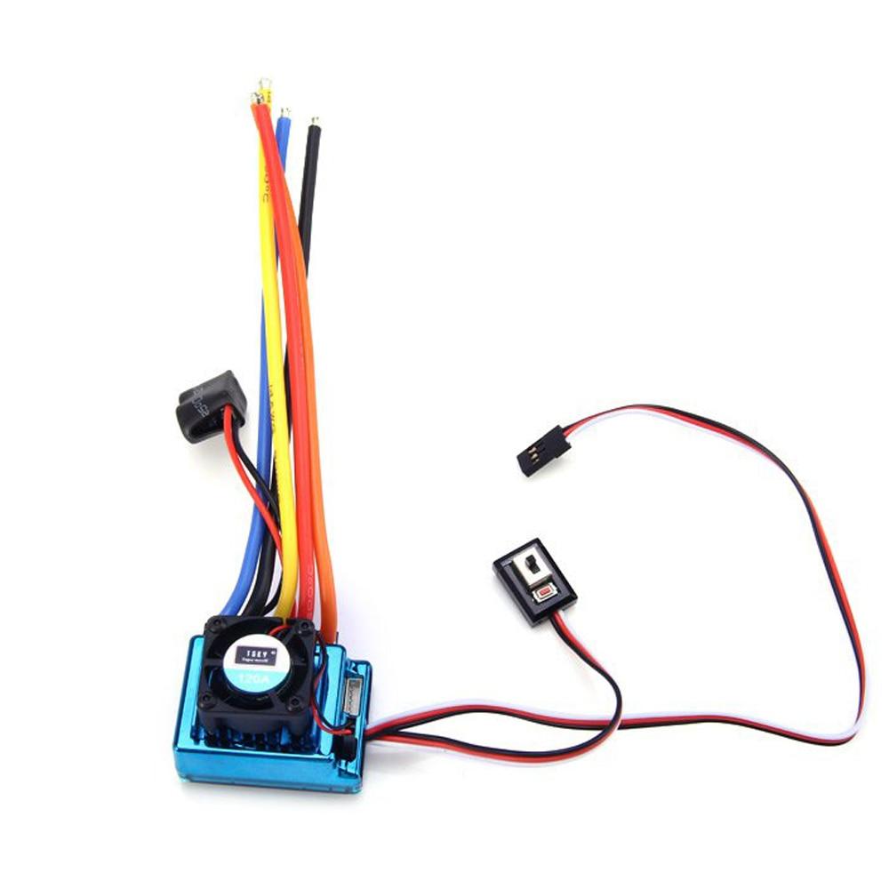 120A Sensored Brushless Speed Controller Regler ESC for 1//8 1//10 Car Crawler DE