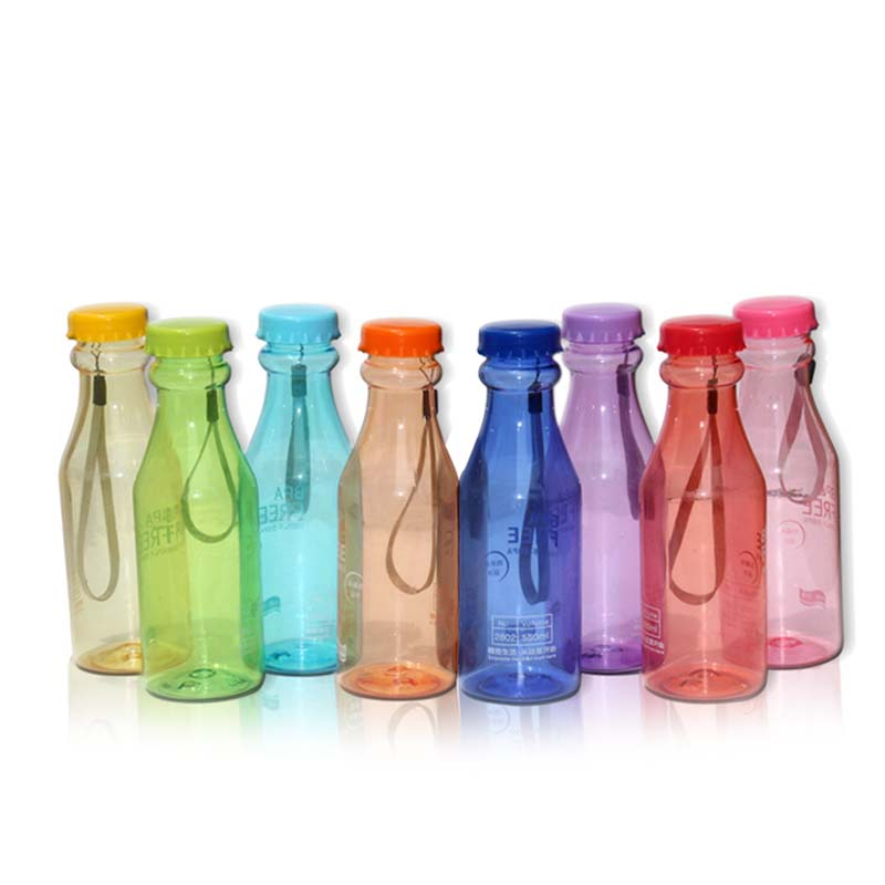 Portable 550ml Plastic Sports Water Bottle Container Leak-proof Bottles for Outdoor Riding Traveling Climbing Camping Ho
