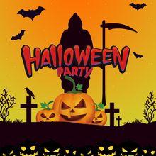 Фоны для фотосъемки yeele Хэллоуин вечерние НКА тыква фонари