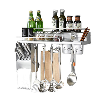 Kitchen rack wall hanging creative table knife space aluminum kitchen hardware pendant stamping Lu5034