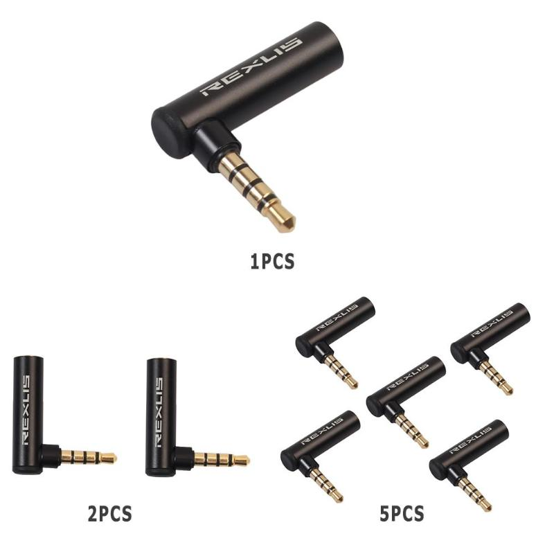Gold Plated 3.5mm Male To Female 90 Degree Right Angled Adapter Audio Microphone Jack Stereo Plug Connector