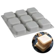 9 решетчатых квадратных силиконовых форм мыло ручной работы для изготовления мыла DIY формы для шоколадного торта кухонные столовые и барные принадлежности@ 15