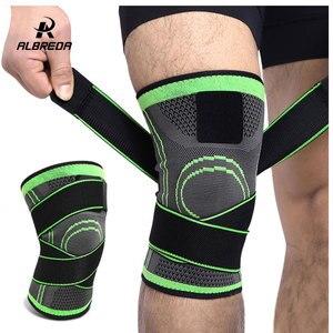 ALBREDA 1 шт. уличная поддержка колена Профессиональный защитный спортивный наколенник дышащая повязка на колено бандаж для баскетбола и тенни...