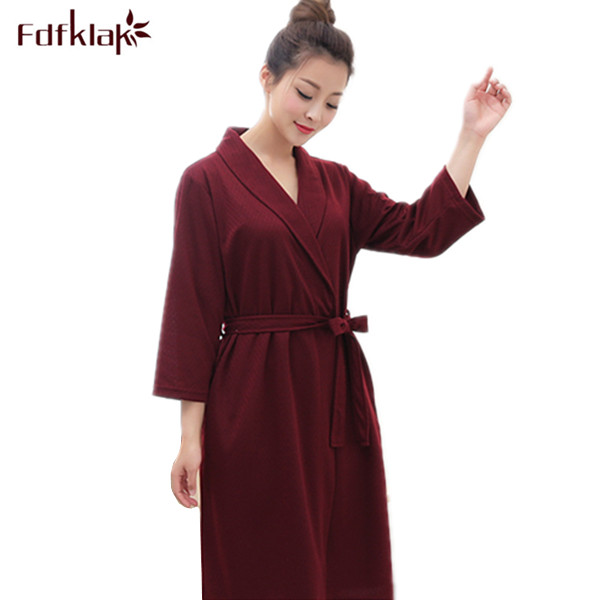Fdfklak Ladies Bathrobe 6 Styles 2017 Spring Summer Cotton Robe ...