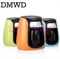 DMWD MINI household American drip coffee machine Italian semi automatic portable Espresso coffee maker one cup office home EU US