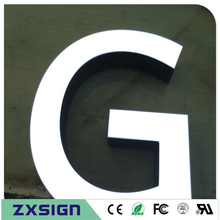 Outdoor high brightness acrylic aluminum sides rimless frontlit led advertising store signs , company name logo signages letters