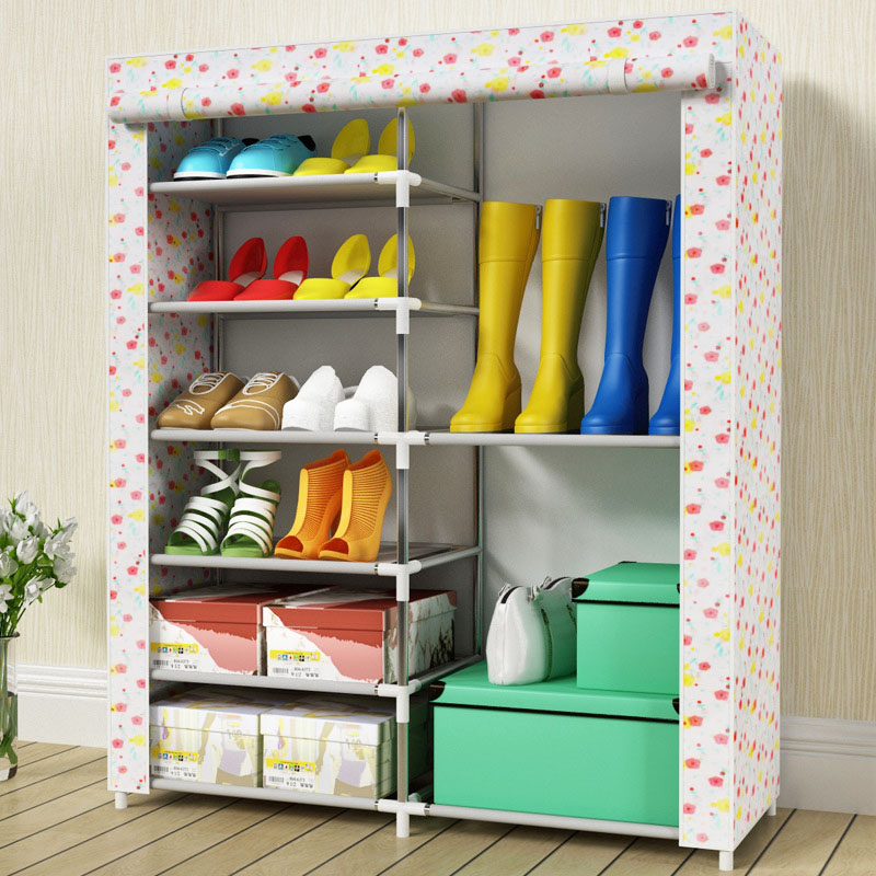 6-layers 8-grid shoes cabinet simple fashion Pattern Non-woven fabric shoe rack organizer removable shoe storage home furniture6-layers 8-grid shoes cabinet simple fashion Pattern Non-woven fabric shoe rack organizer removable shoe storage home furniture