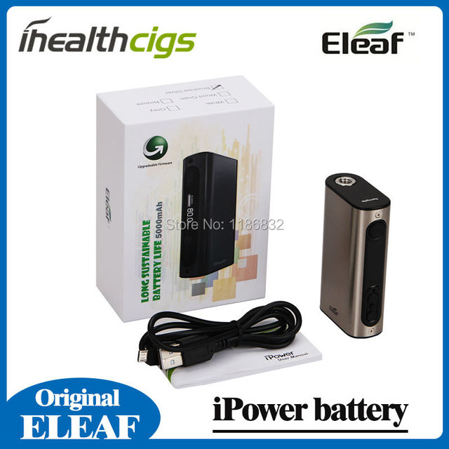 100% Original Eleaf iPower Battery 5000mAh New Firmware With Smart Mode With GCT Tank
