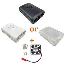 Raspberry Pi 3 Case ABS Box 3 Color Plastic Enclosure Cover Shell + PI 3 CPU Fan Compatible Raspberry Pi 2 Model B