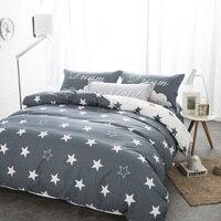כוכב הדפסת 100% כותנה מצעים קובע שחורה ולבן twin/double/כריות גיליון כיסוי שמיכת מלכת מיטת bedline עבור בנים/החבר