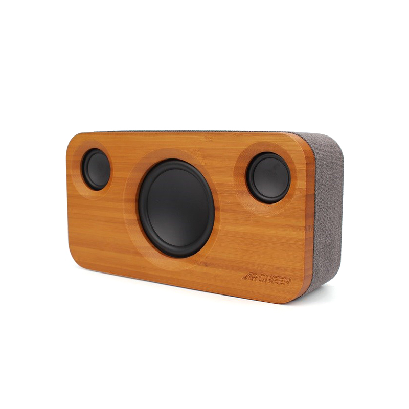 Incredible 2.1 Channel Sound Bamboo Stereo Speaker Dual Embedded Speakers Enhanced Sound Stage Archeer For Phone PC Speaker