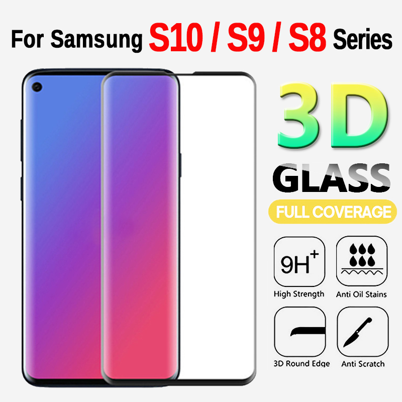 Case On The For Samsung Galaxy S10 E Protective Tempered Safety Glass On S8 S9 S10 Plus HD Clear Screen Protector Case Shell