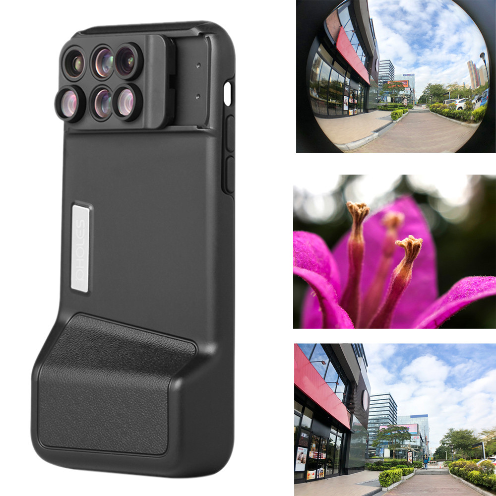 Bluetooth Camera Lens Fisheye Wide-angle Telephoto Macro Case Cover Cover Detachable New For IPhone X/XS/XS Max 5.8/6.5 Inch