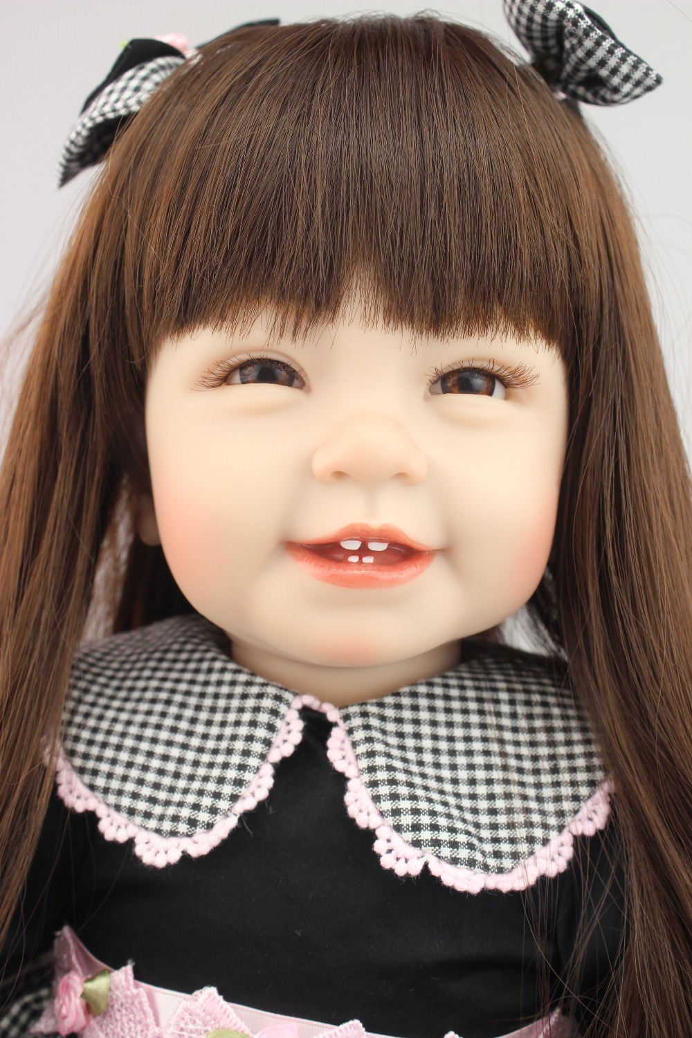 2016 NEW design hot sale lifelike reborn todder girl doll wholesale baby dolls fashion doll Christmas gift for child cute hot sale stripe design pantyhose for girl